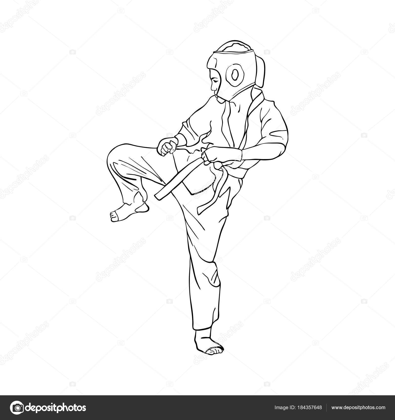 Junge Junge karate — Stockvektor © cat_arch_angel #184357648