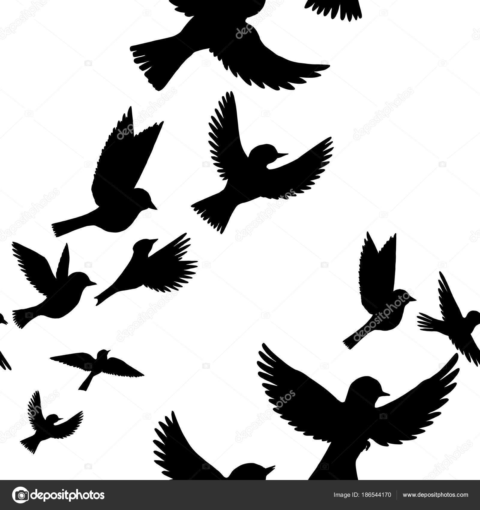 Vector: aves | patrón sin costuras Vector con aves — Vector de stock ...