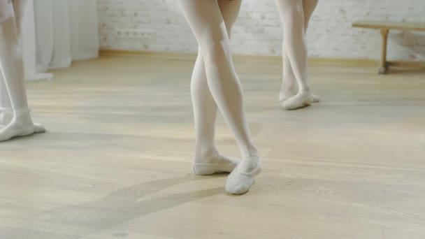 Close-up of Ballet Dancers Legs