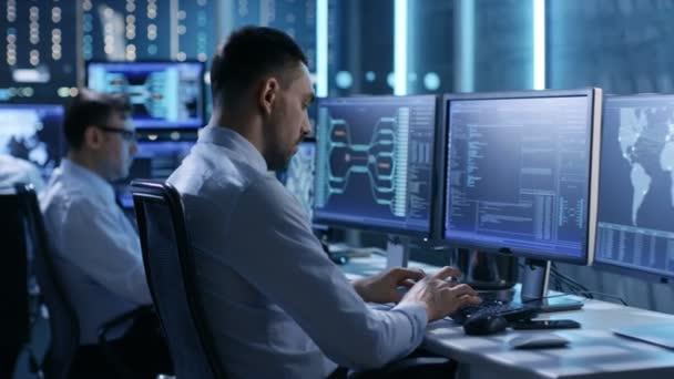 A felügyeleti szobában csapat a rendszer mérnök dolgozik a munkaállomást. Sokszoros bemutatás különböző fontos adatok és információk megjelenítése. Lehetséges légi forgalom / erőmű / biztonsági szoba téma.