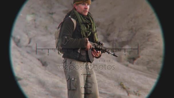 Při pohledu na Patrol terorismu prostřednictvím Sniper rozsah