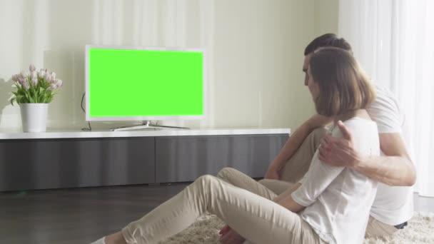 Dvě televize s zeleným plátnem. Skvělé pro použití makety