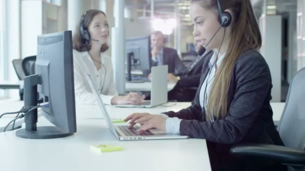 Moving through Crowded Customer Support Call Center.