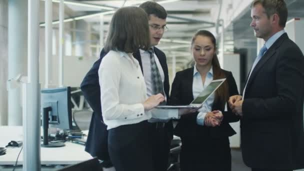 Team of Office Workers Have Discussion Office