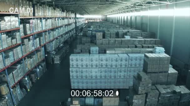 CCTV belül logisztikai raktár