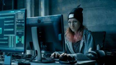 Nonconformist Teenage Hacker Girl Attacks and Hacks Corporate Se