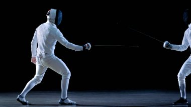 Two Professional Fencers Show Masterful Swordsmanship in their F