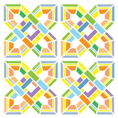 colors geometry vintage background