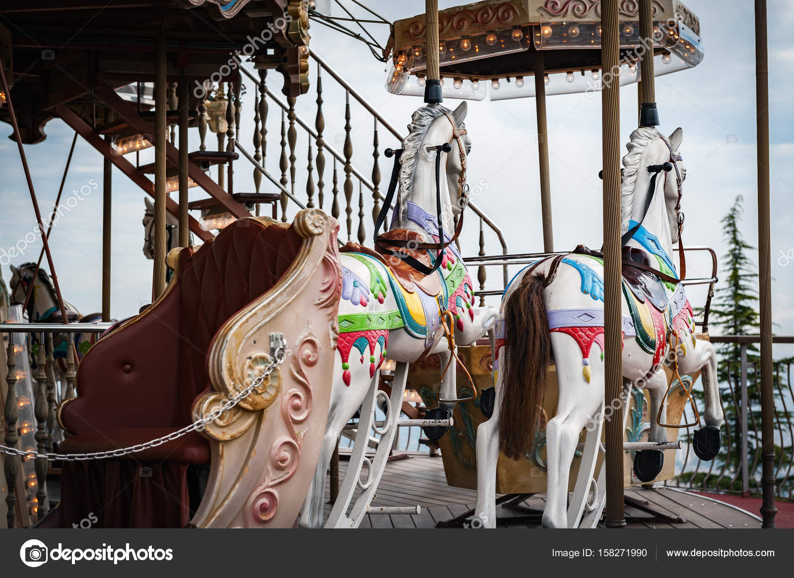 Old Abandoned Carousel Horses Stock Editorial Photo C Gorelovs 158271990