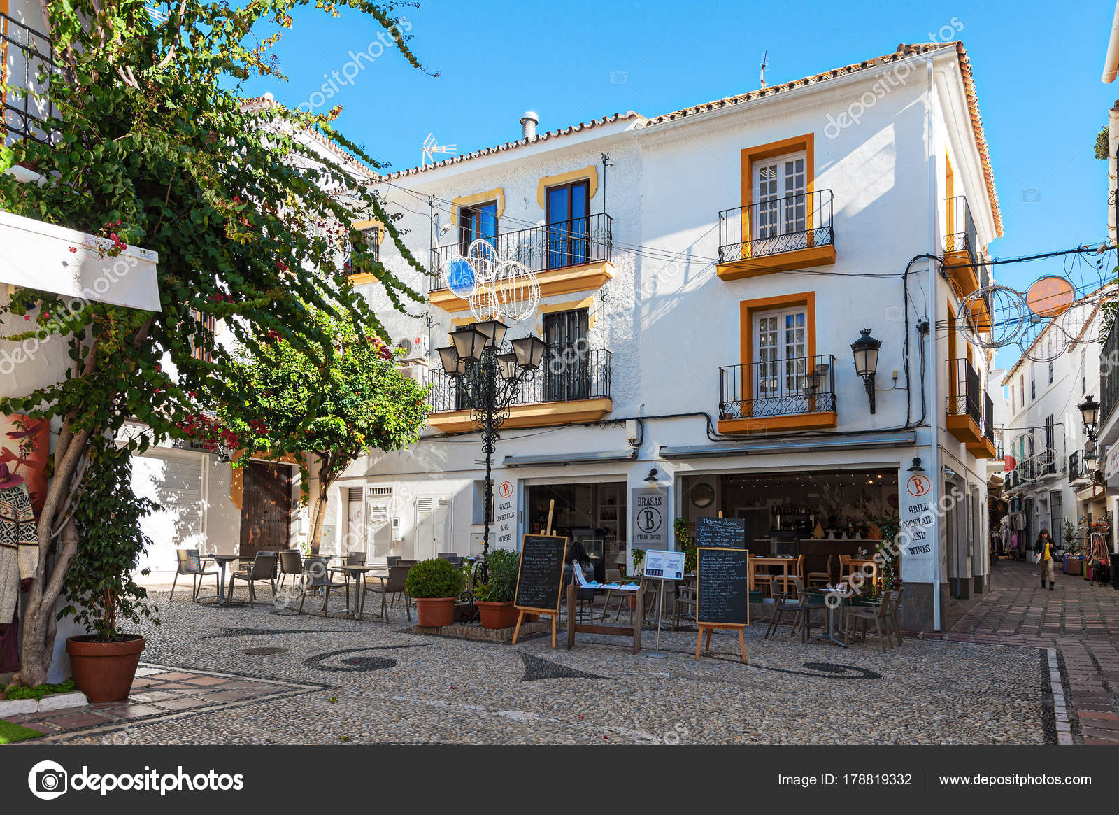 Marbella December 2017 Traditional Spanish Architecture Old Town Andalusia Stock Photo 178819332