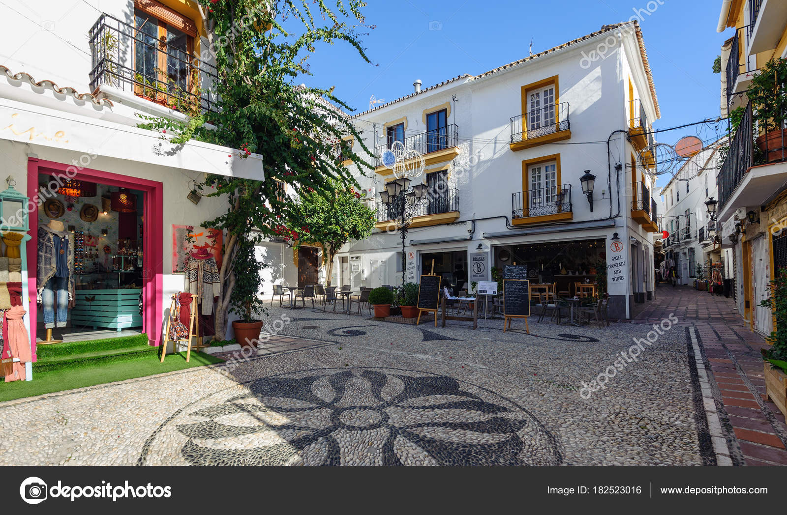 Marbella December 2017 Traditional Spanish Architecture Old Town Andalusia Stock Photo