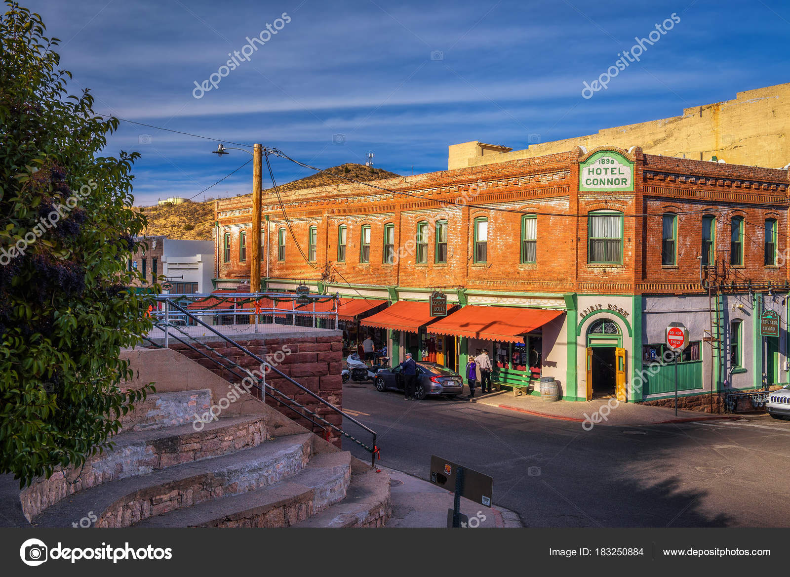 Historic Connor Hotel In Jerome Arizona Stock Photo