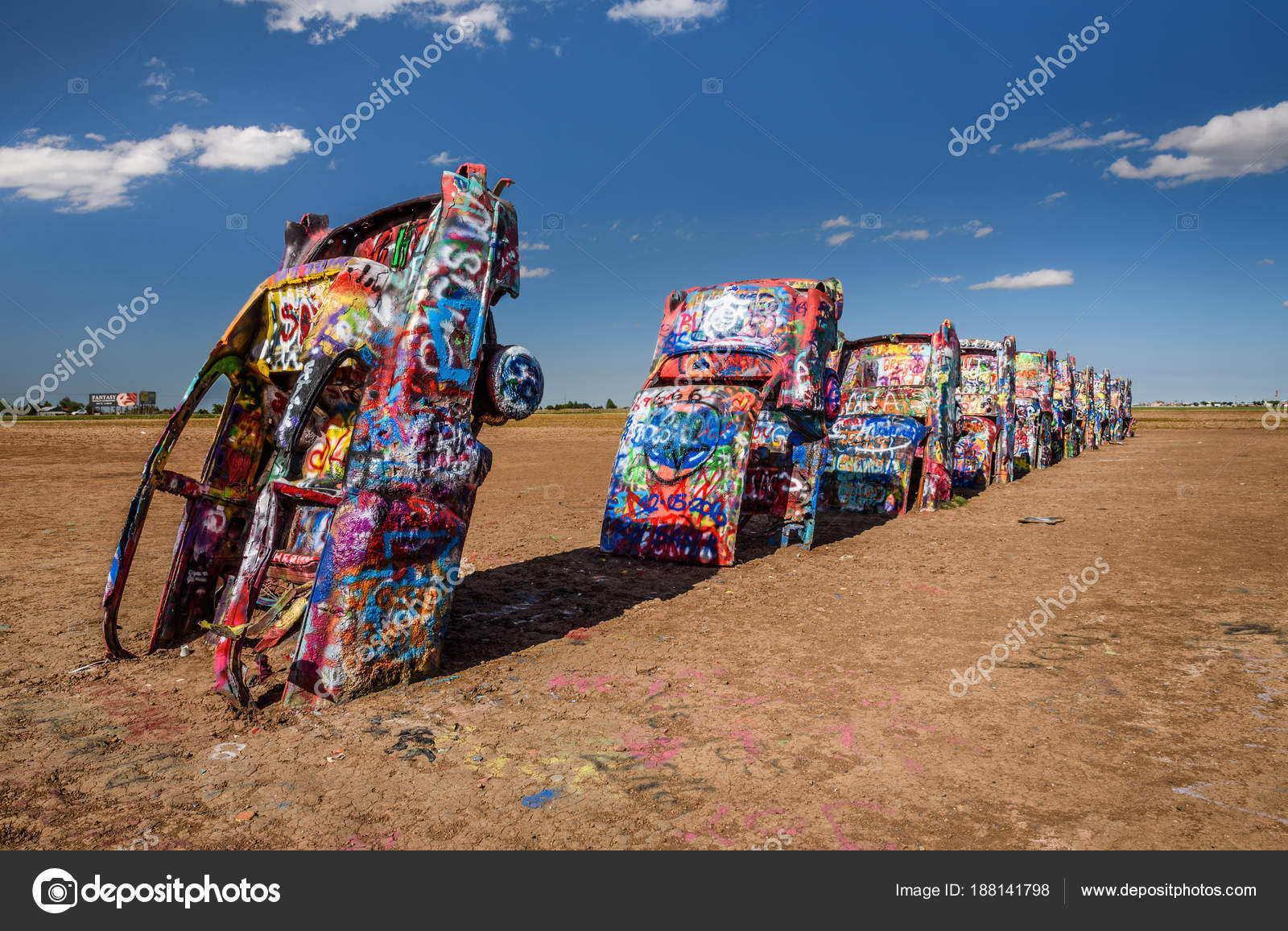Cadillac Ranch On Route 66 In Texas Stock Editorial Photo