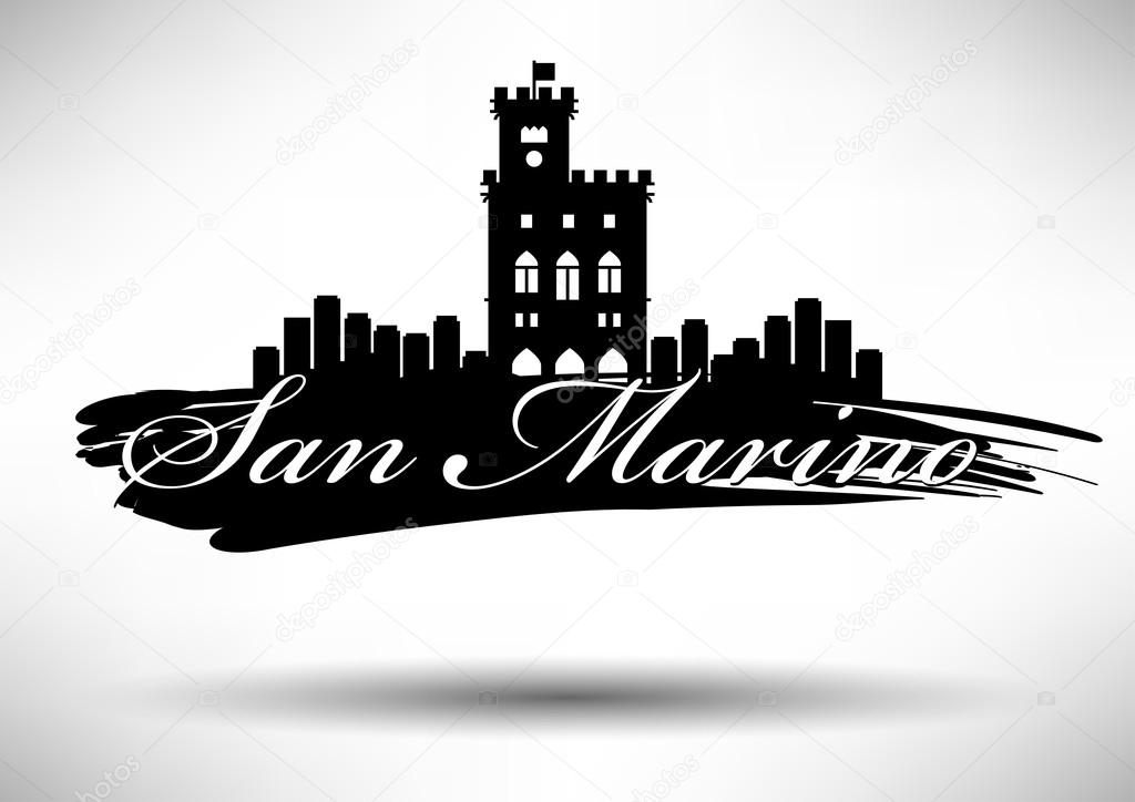 Graphic Design of San Marino City Skyline — Stock Vector ...