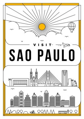 Template of Sao Paulo city