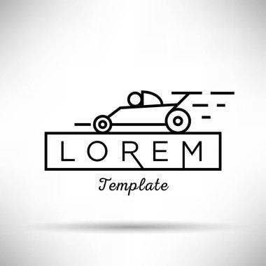 racing modern style linear logo