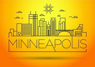 Minneapolis Linear City Skyline