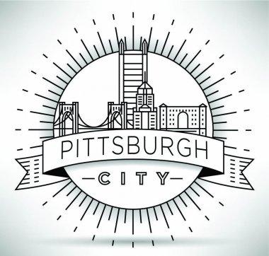 Pittsburgh Linear City Skyline