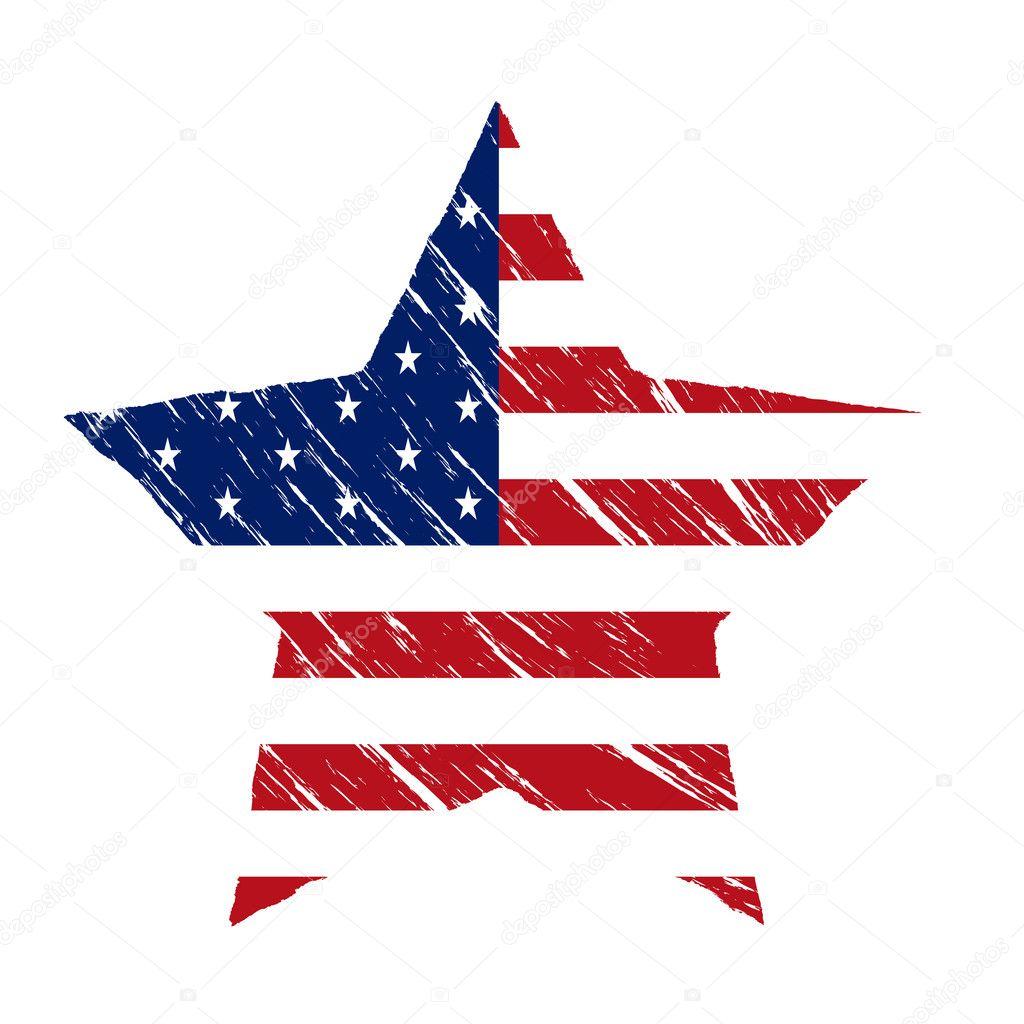 アメリカの星イラスト ストックベクター Jokalar01 126668812