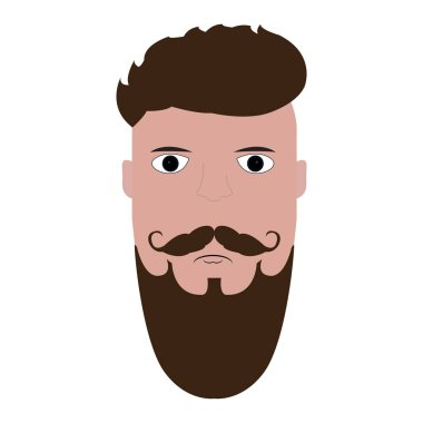Isolated hipster portrait