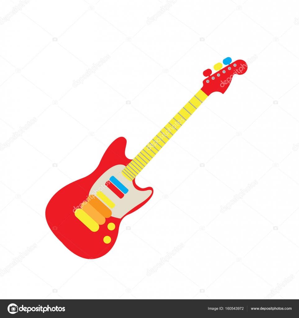 Juguete guitarra aislada — Vector de stock © JoKalar01 #160543972