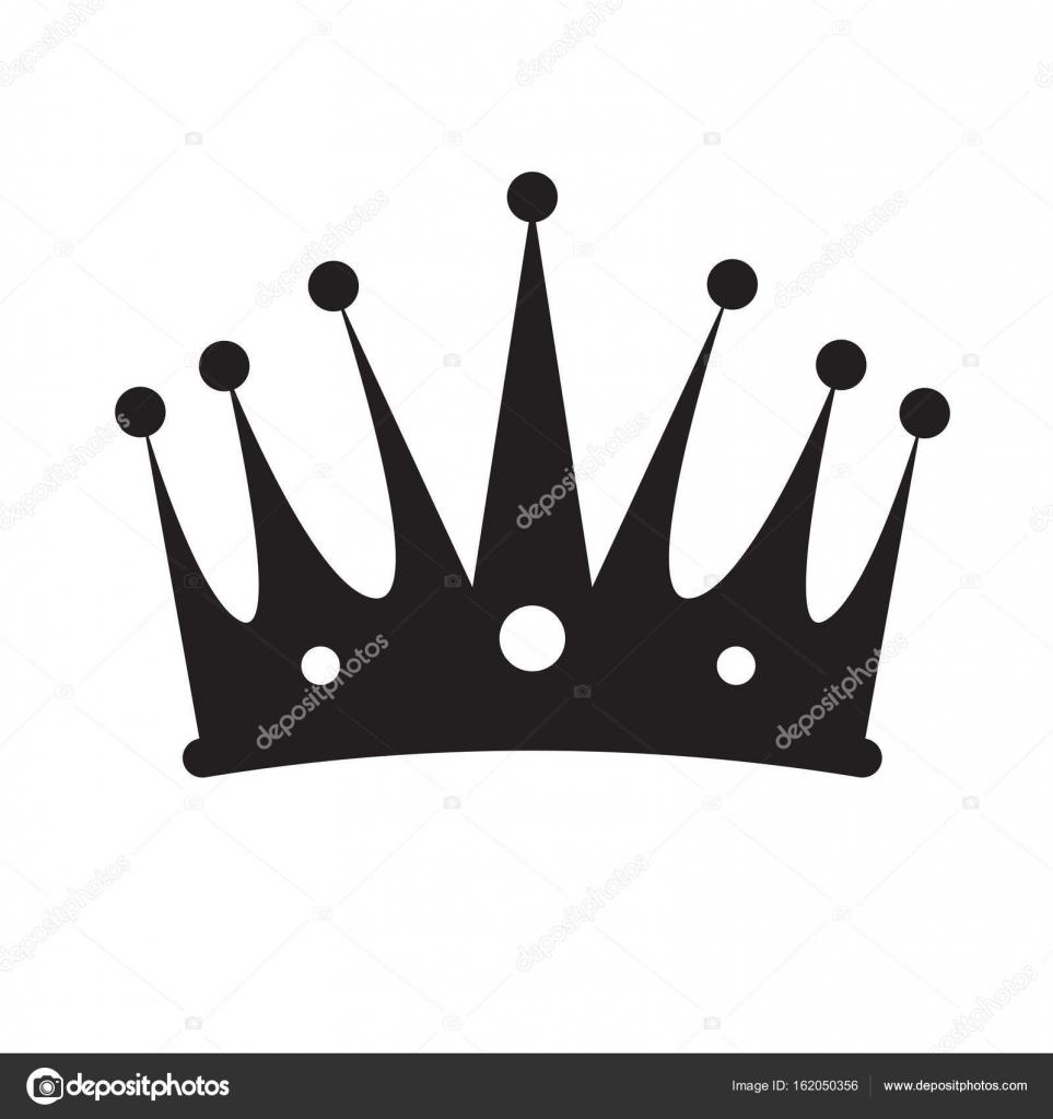 Silueta de corona aislado — Vector de stock © JoKalar01 ...