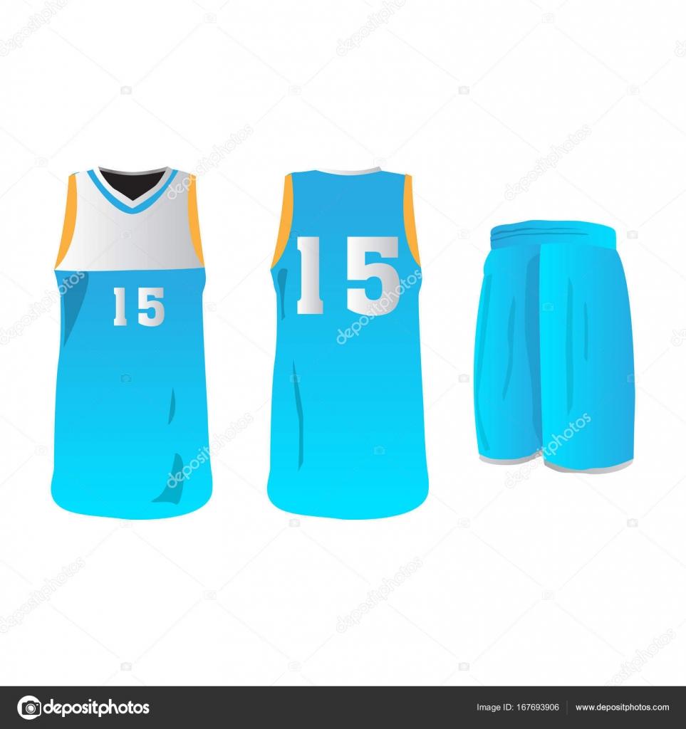 d7e79488a343 Isolated basketball uniform — Stock Vector © JoKalar01  167693906