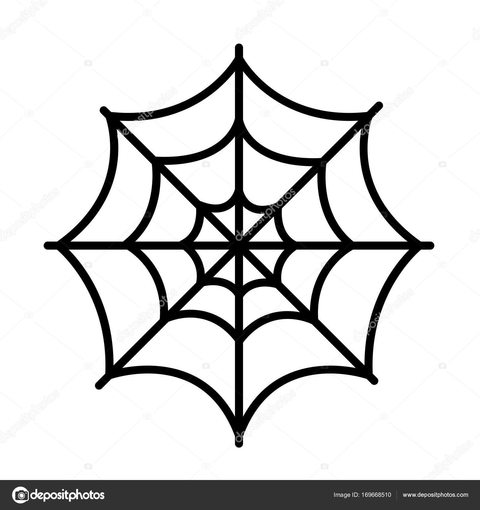 isolated spider web icon stock vector jokalar01 169668510 rh depositphotos com spider web vector png arai vector spider web