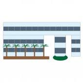 Ilustrace izolované budovy