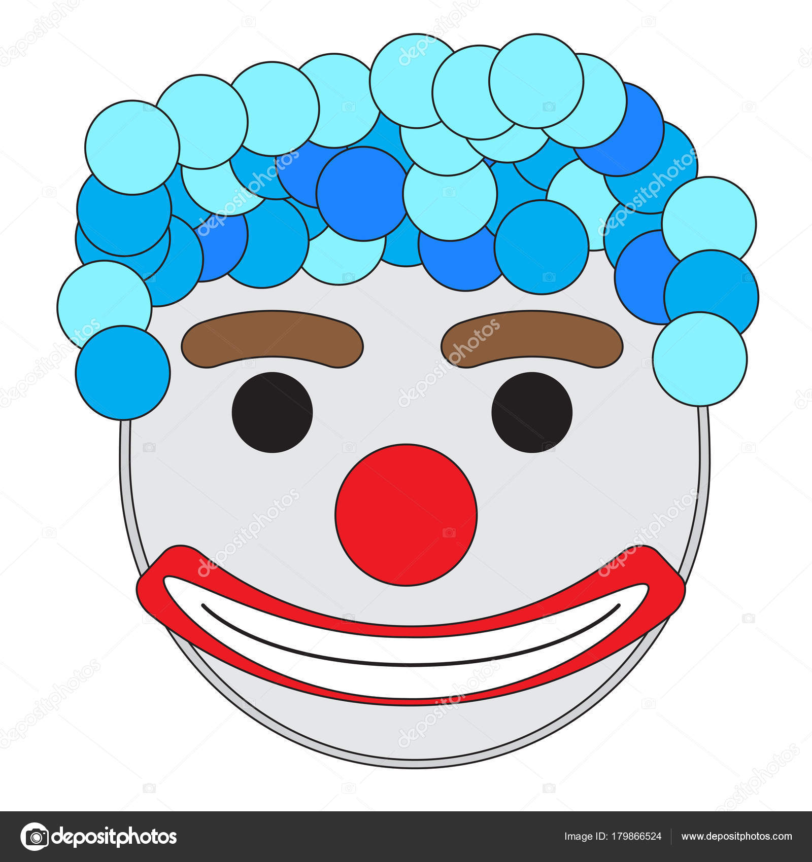 Maschera Di Carnevale Pagliaccio Vettoriali Stock Jokalar01