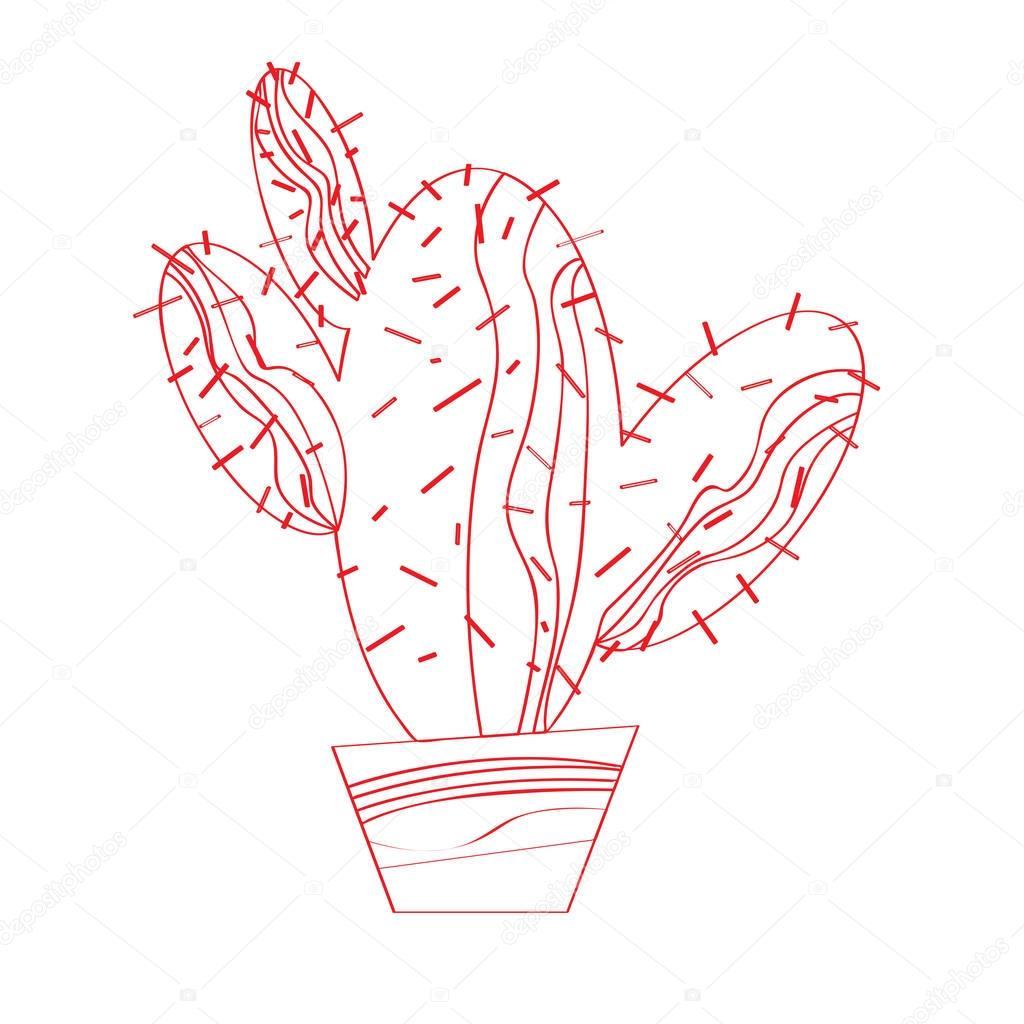 Isolated cactus icon