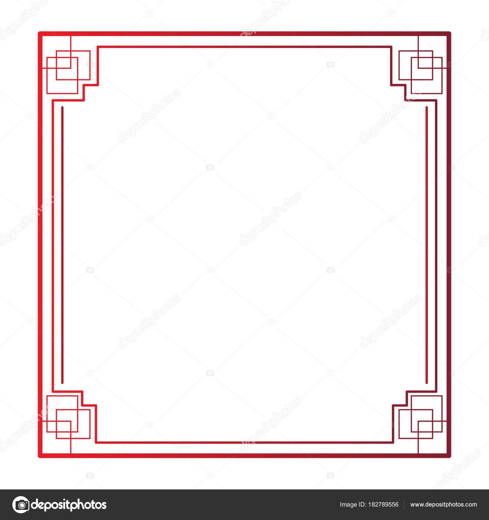 Imagen de marco chino — Archivo Imágenes Vectoriales © JoKalar01 ...