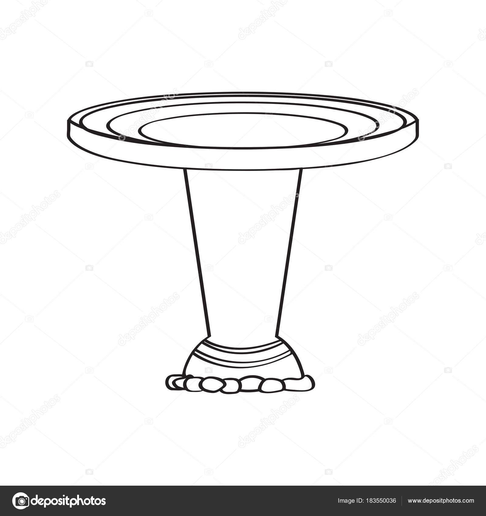 Fuente bautismal tradicional — Vector de stock © JoKalar01 #183550036