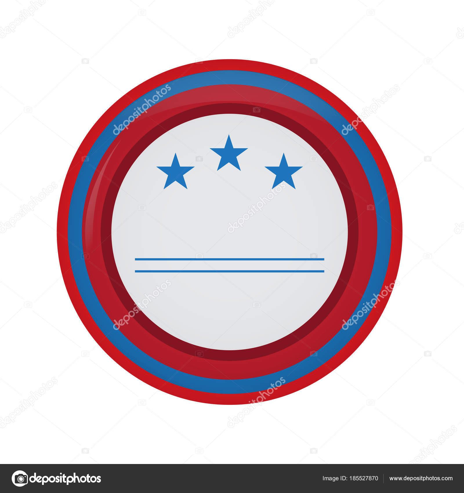 Botón de campaña americana vacía — Vector de stock © JoKalar01 ...