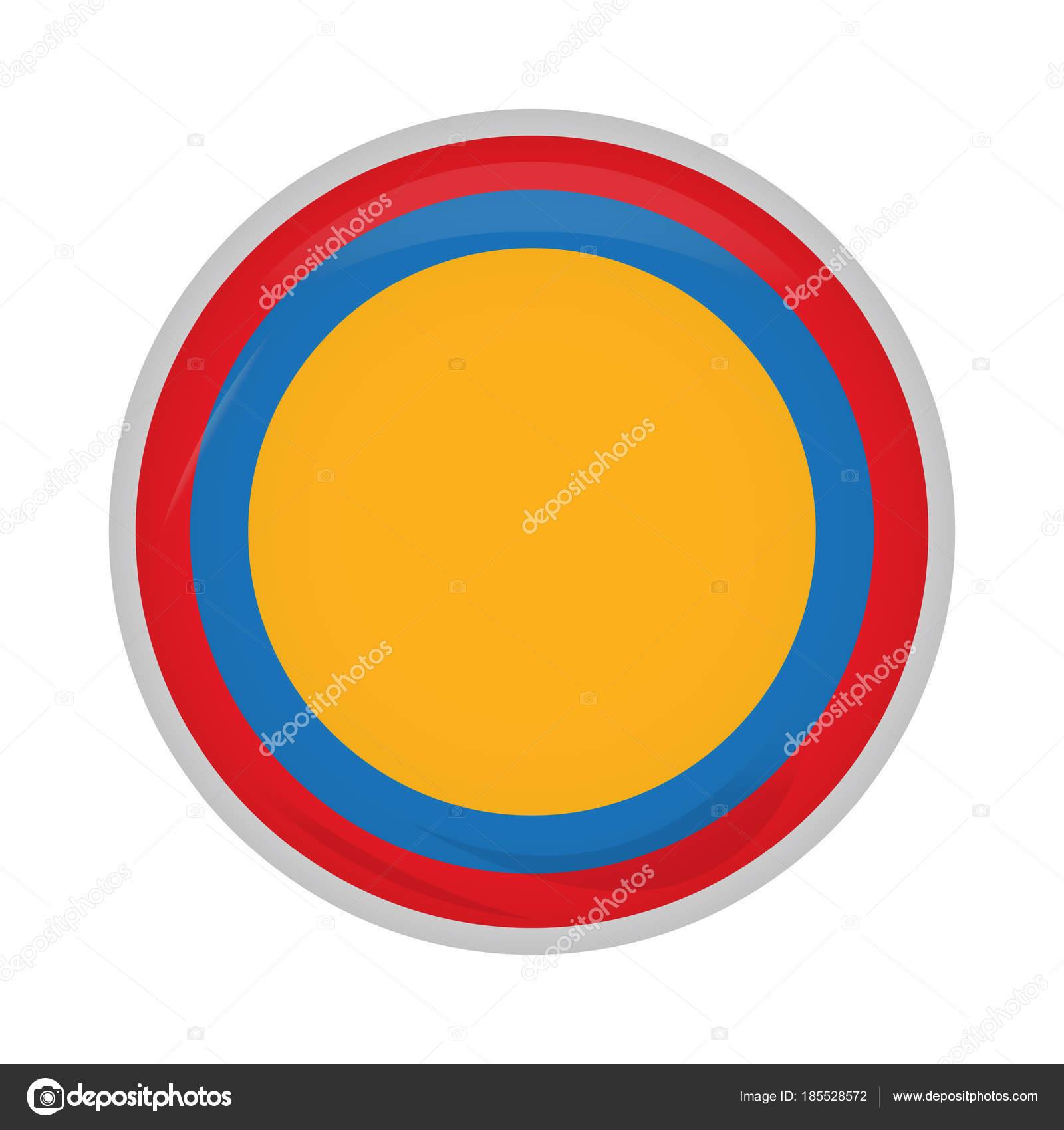 Botón de campaña colombiana vacía — Vector de stock © JoKalar01 ...