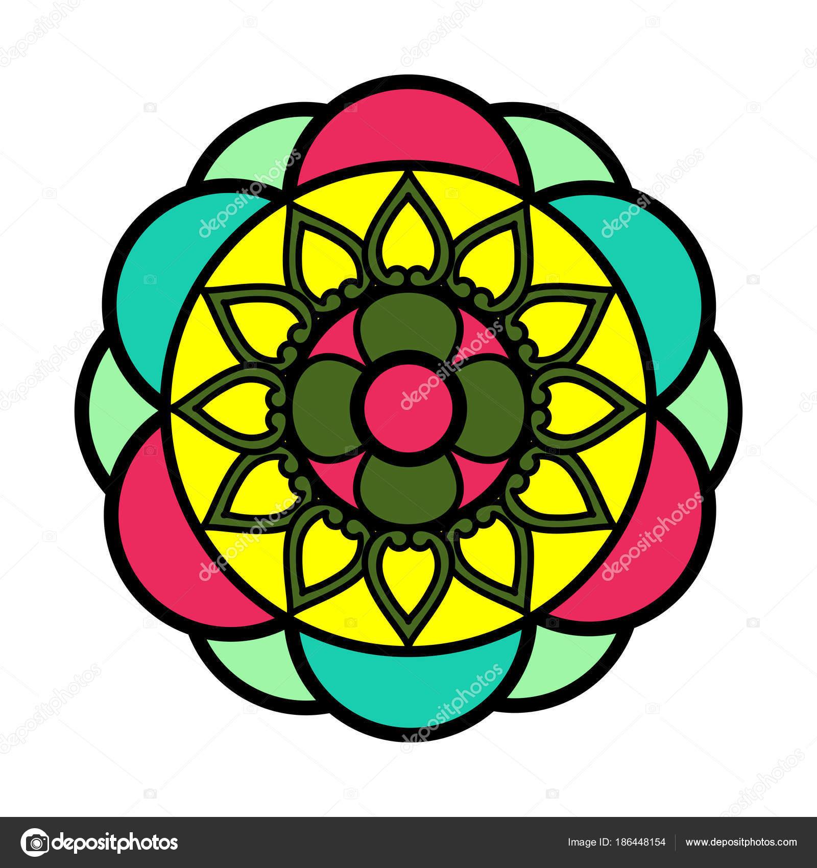 Decorative Colored Mandala Stock Vector C Jokalar01 186448154