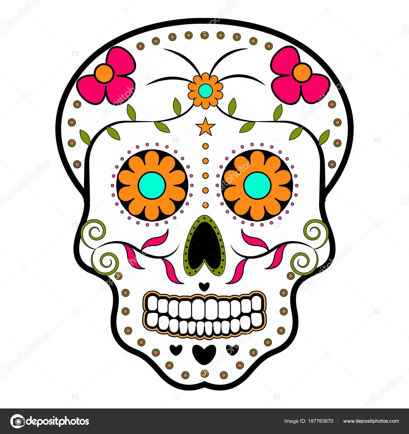 Imágenes Cabezas De Calaveras De Dia De Muertos Cráneo De Cabeza
