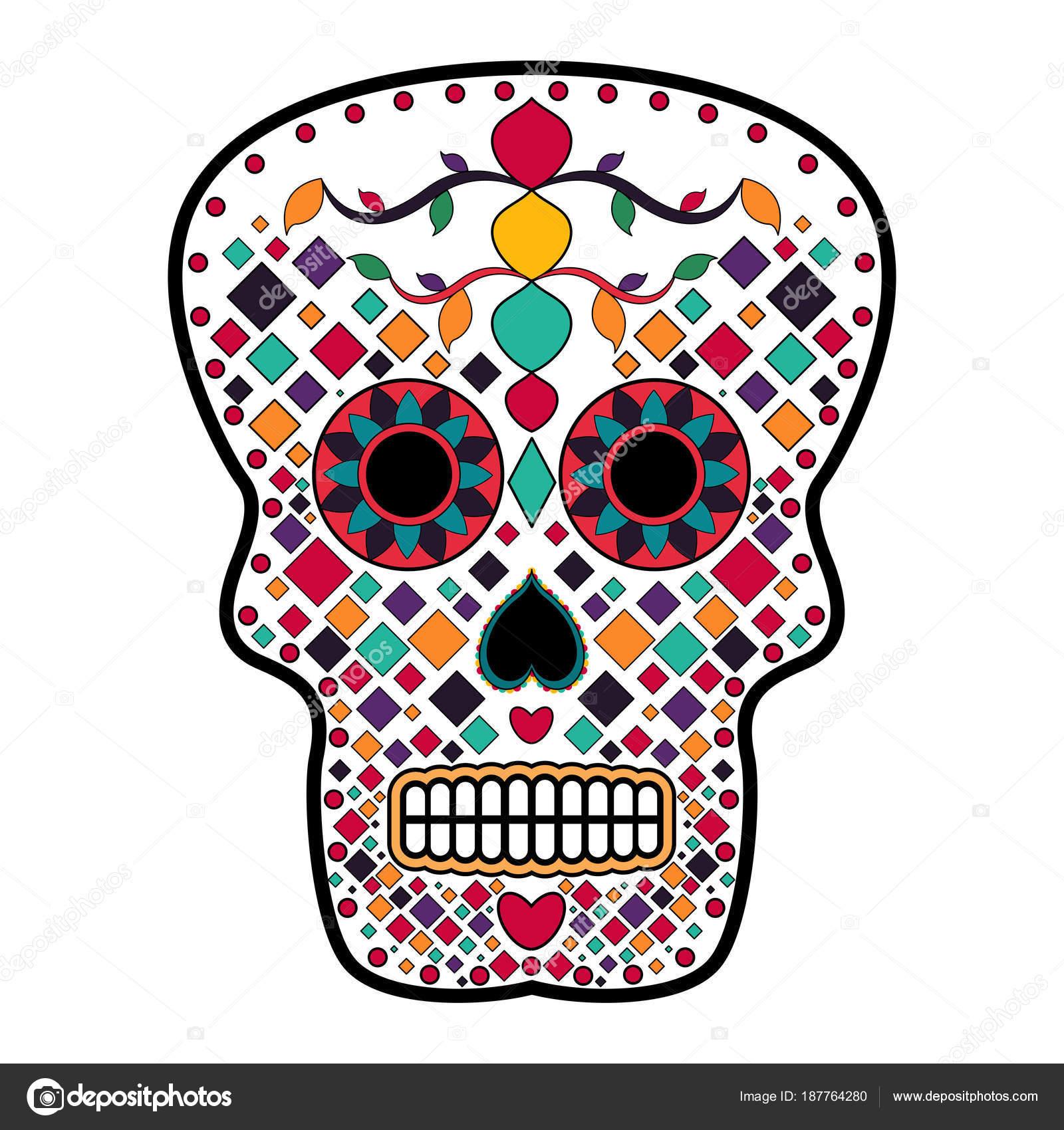 Imágenes Calaveras Completas De Dia De Muertos Cráneo De Cabeza