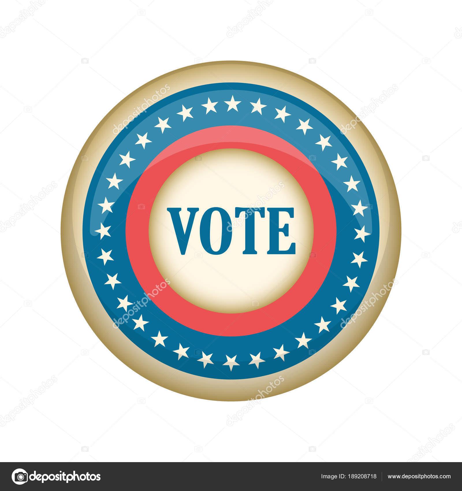 Botón de campaña Estados Unidos retro — Archivo Imágenes ...