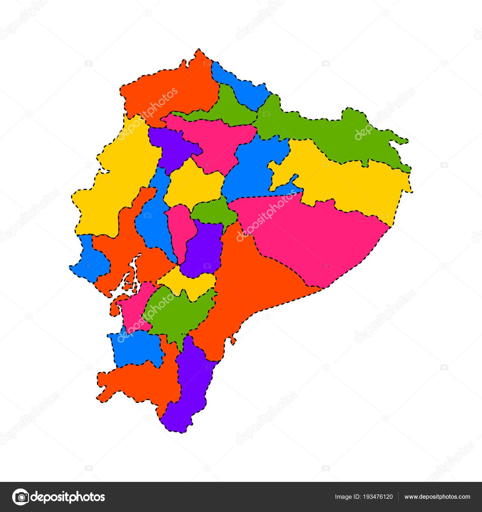 Political map of Ecuador — Stock Vector © JoKalar01 #193476120
