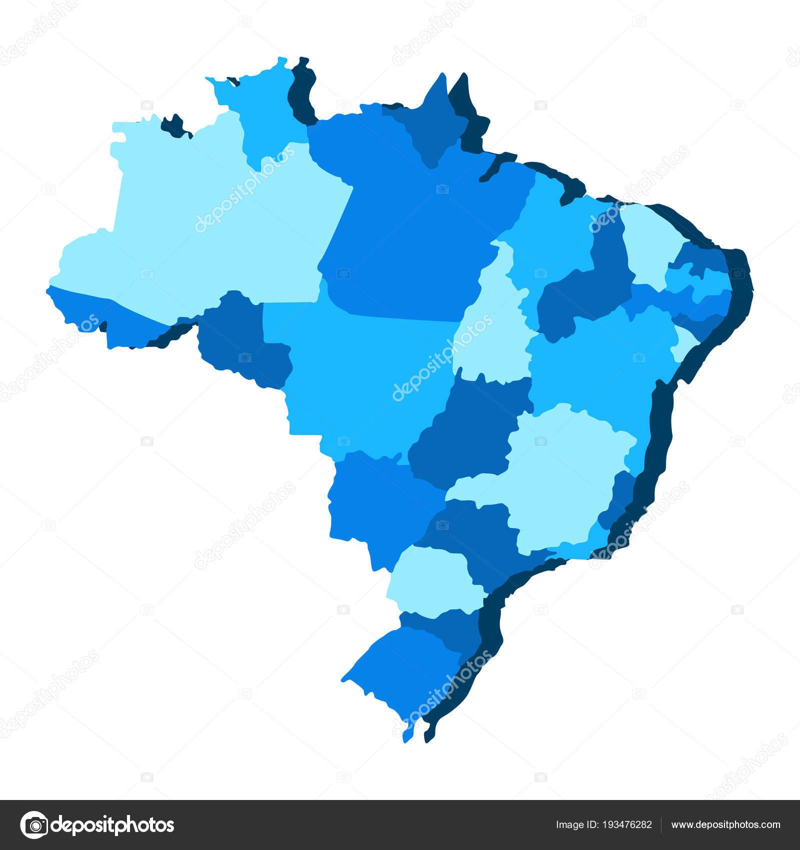 Political Map Of Brazil Stock Vector C Jokalar01 193476282