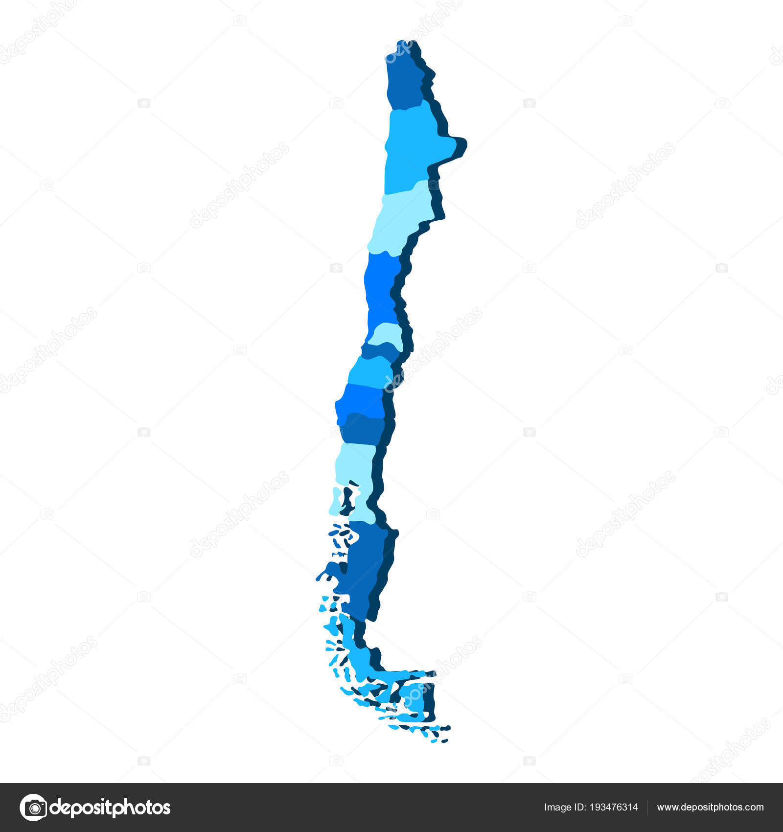 Mapa Politico De Chile.Mapa Politico De Chile Archivo Imagenes Vectoriales