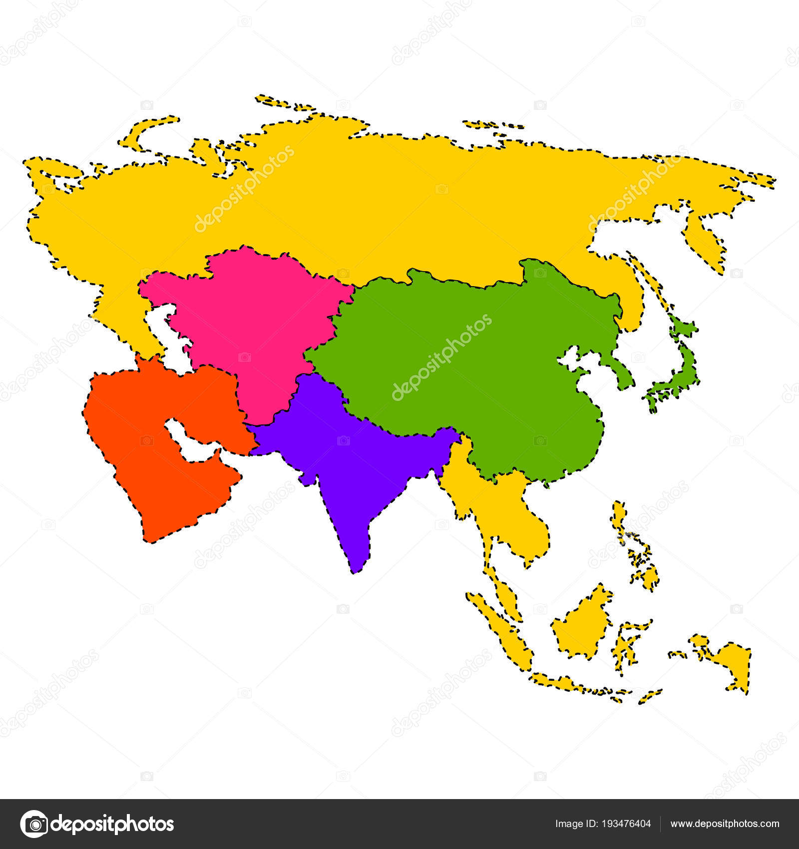 Political map of Asia — Stock Vector © JoKalar01 #193476404 on map of asia with asia, map of east asia only, mapa politica asia, lanzhou on a political map of asia, map of asia and america, 1940s map of europe and asia, map od asia, map of asia 2013, full map of asia, map of asia countries, whole map of asia,