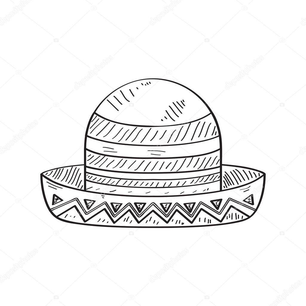 Imágenes Sombrero De Charro Para Colorear Bosquejo Del