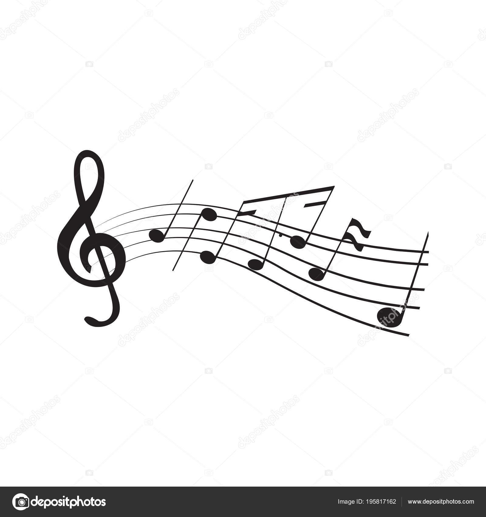 Fotos Pentagramas Conjunto De Notas Musicales En Un Pentagrama