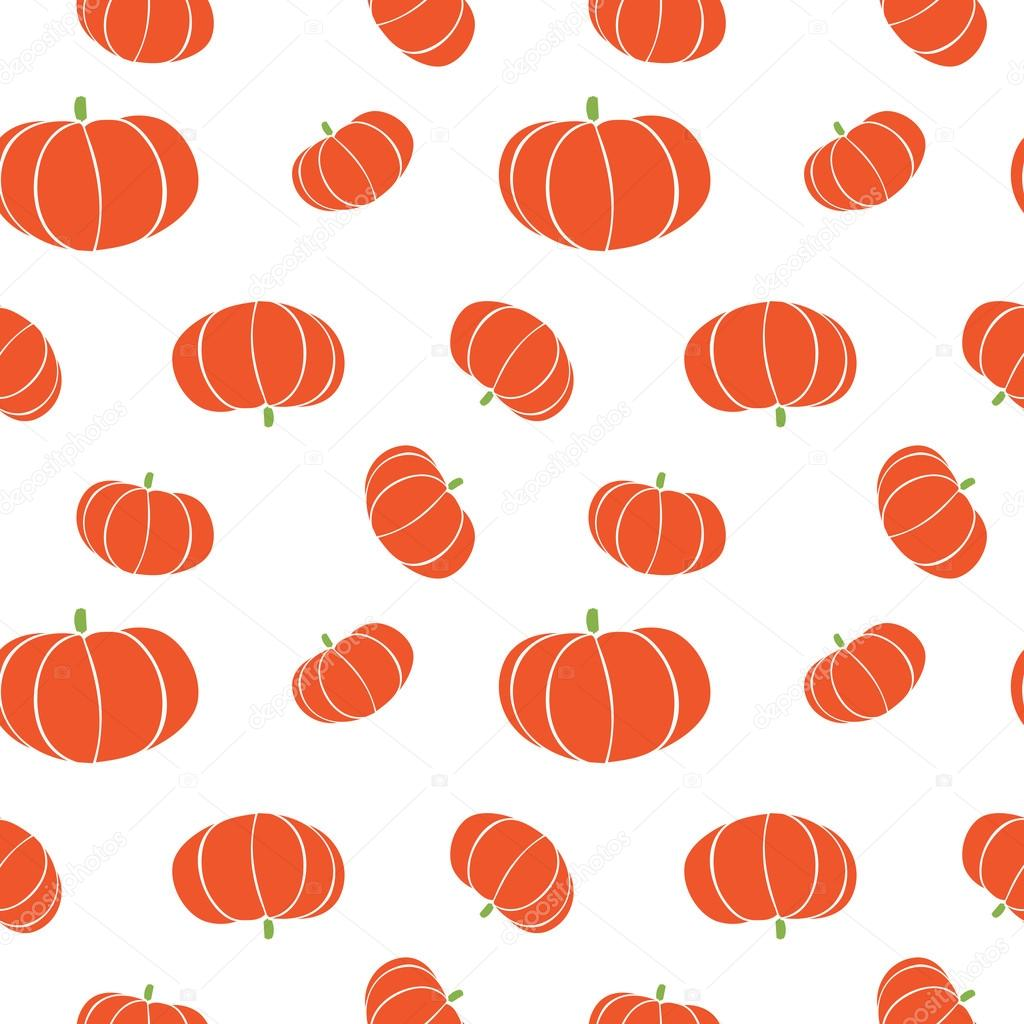 Isolated abstract orange color pumpkin seamless texture on white ...