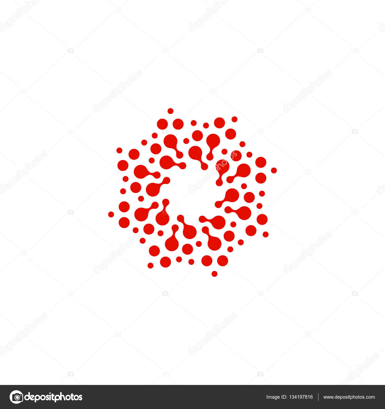 Abstract circle logotype unusual dotted round isolated chem logo abstract circle logotype unusual dotted round isolated chem logo virus icon red sun flower symbol spiral signctor illustration vector by artyway biocorpaavc Choice Image
