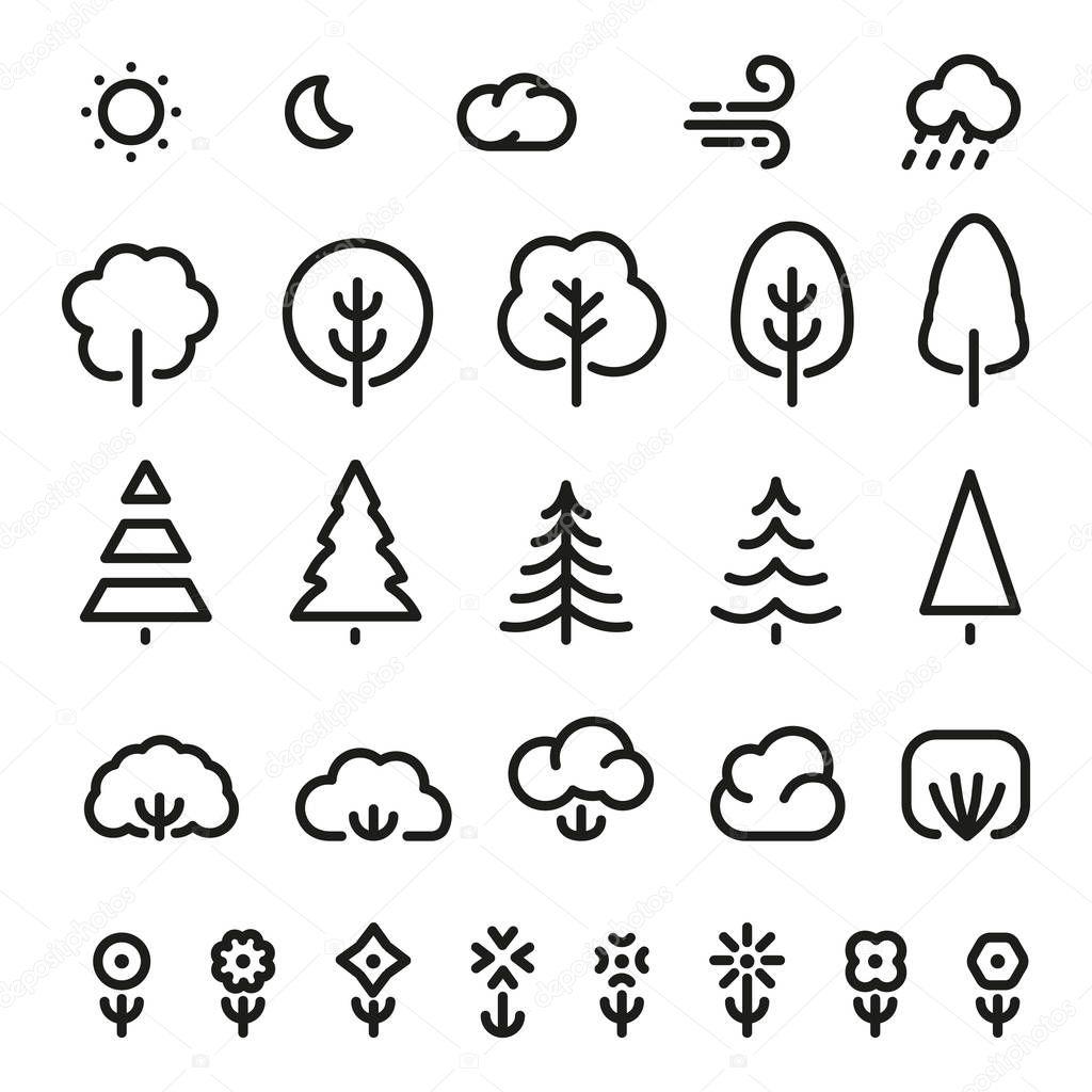 условное обозначение дерево картинка пешеходы, велосипедисты