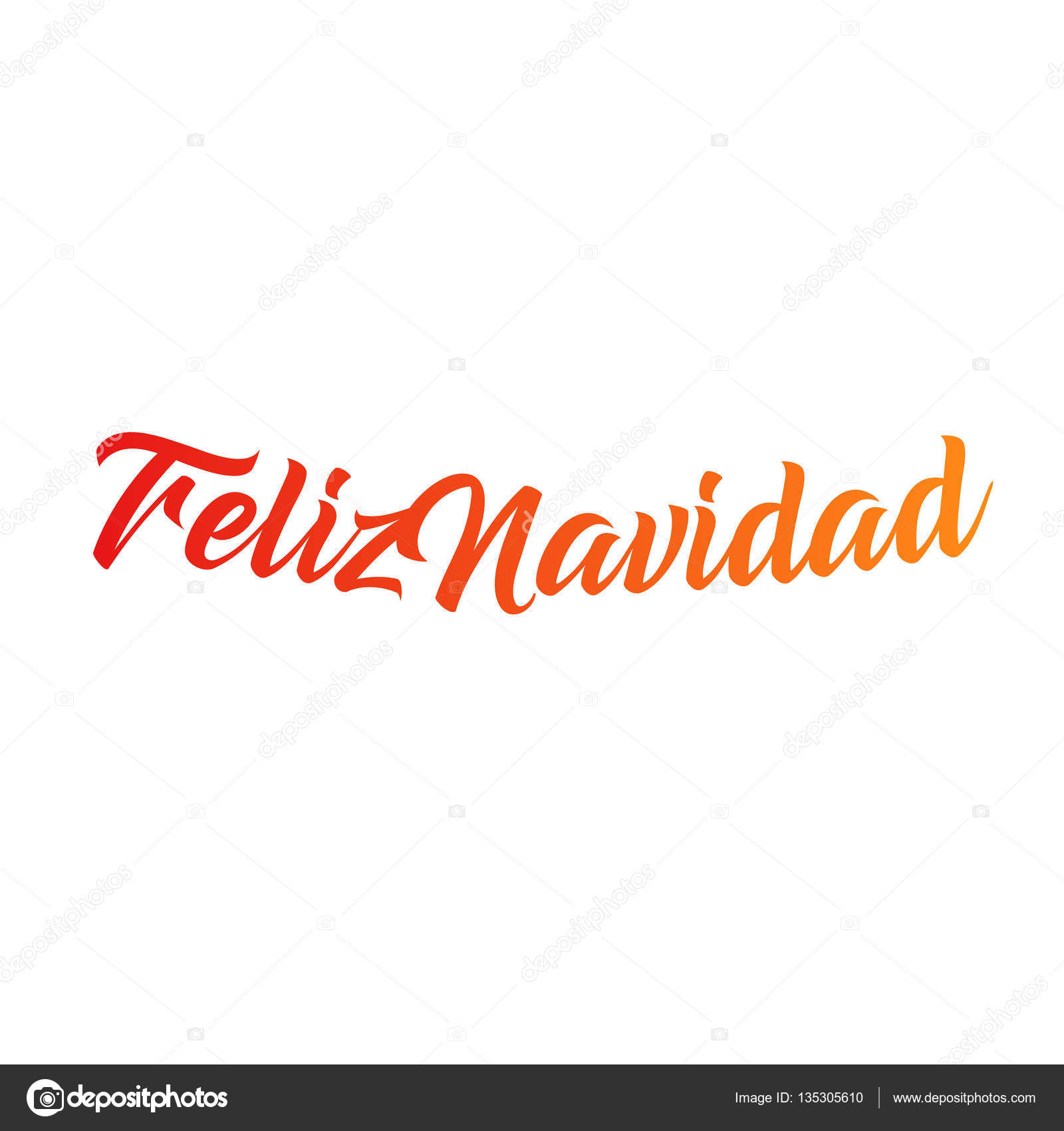 Feliz navidad words vector illustration lettering christmas and new lettering christmas and new year holiday calligraphy phrase isolated on the white background red color spanish greeting card vector by artyway m4hsunfo