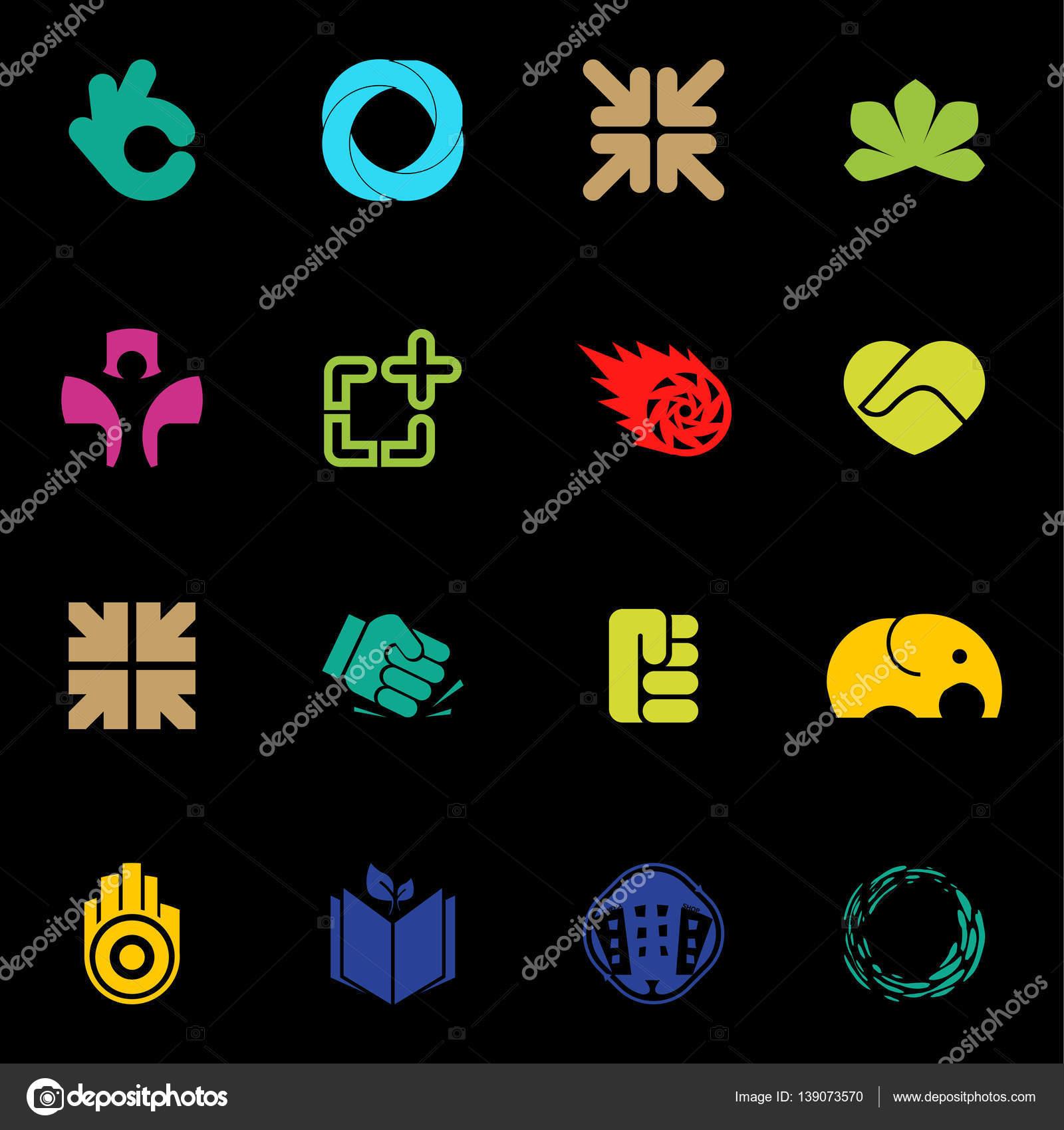 Moderne Vektor Logo Sammlung. Ungewöhnliche Logos Element. Logo Design U2014  Vektor Von Artyway